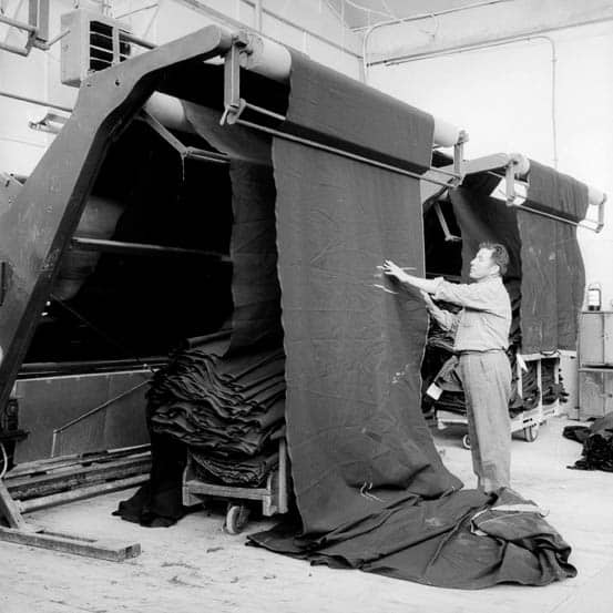 Quality check at the final stage of production. Oveja Tomé textile factory, Tomé, Chile. Circa 1960. Photo courtesy Ministry of Education, Educar Chile programme, provided by the University of Chile