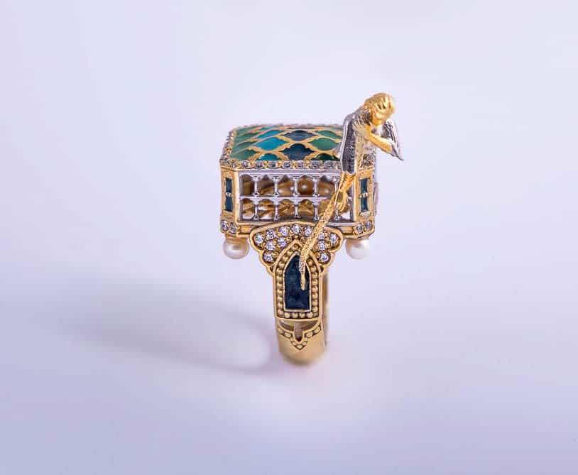 Niloufar Mirshahidi & Behnaz Barabarian, An Unrepeatable Amorous,18k gold, turquoise, pearl, lazuli and brilliant