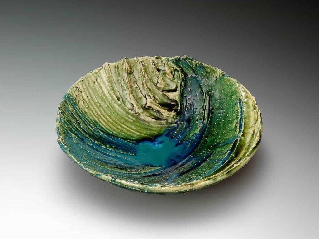 Tetsu Suzuki, Bowl with green glaze