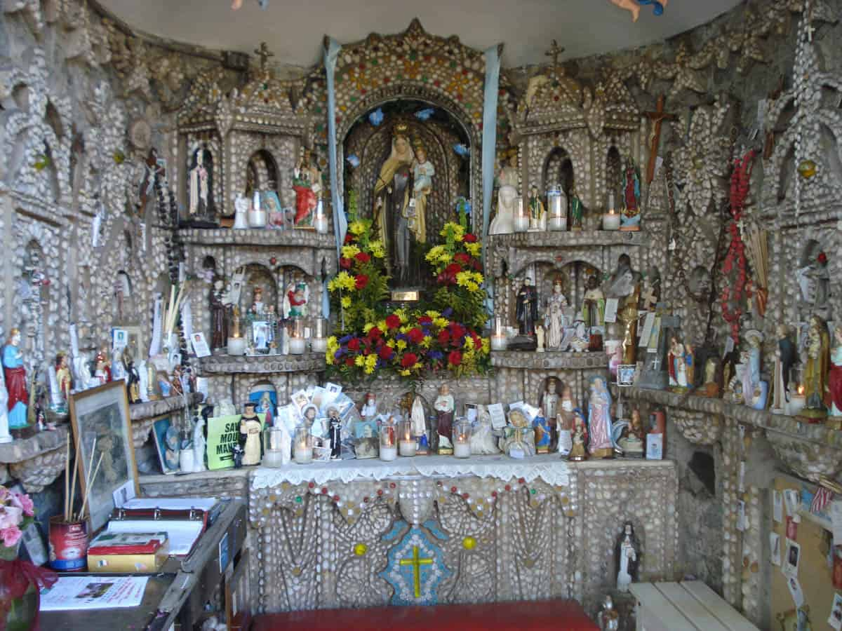 The Our Lady of Mount Carmel Grotto in Rosebank, Staten