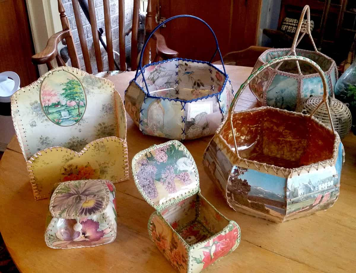 The Quest For The Vintage Card Basket Garland Magazine