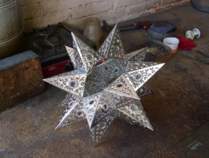 Star lantern in proress 2013 photo Claire McArdle