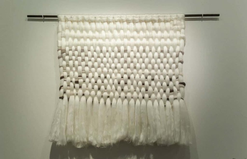 Yunuen Perez, Nubes Blancas, 2016, silk and wool