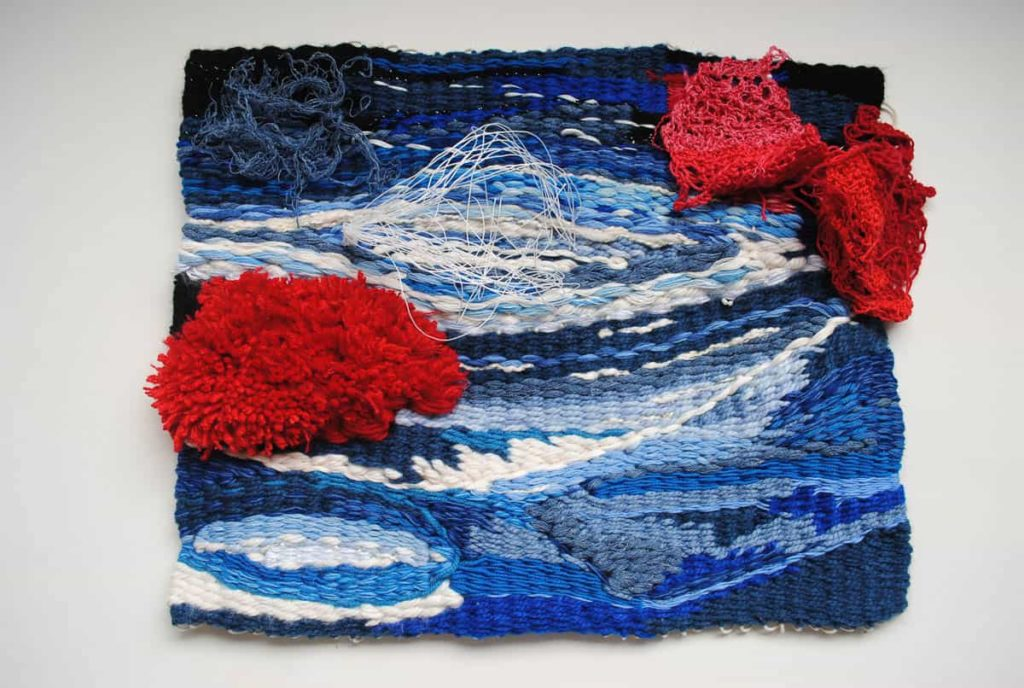 Yunuen Perez, Coral,  2017, hand-woven tapestry, wool and organic yarn