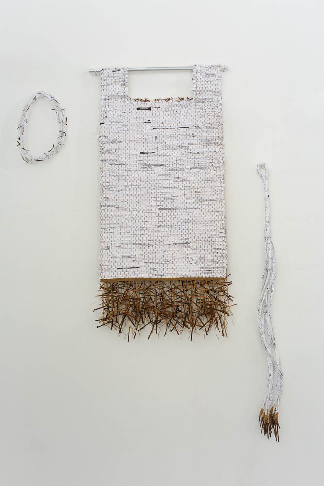 Laurie Paine, Social Security Suite, 2017, mixed media (paper, nails, wood, twine), photo: Ian Hobbs