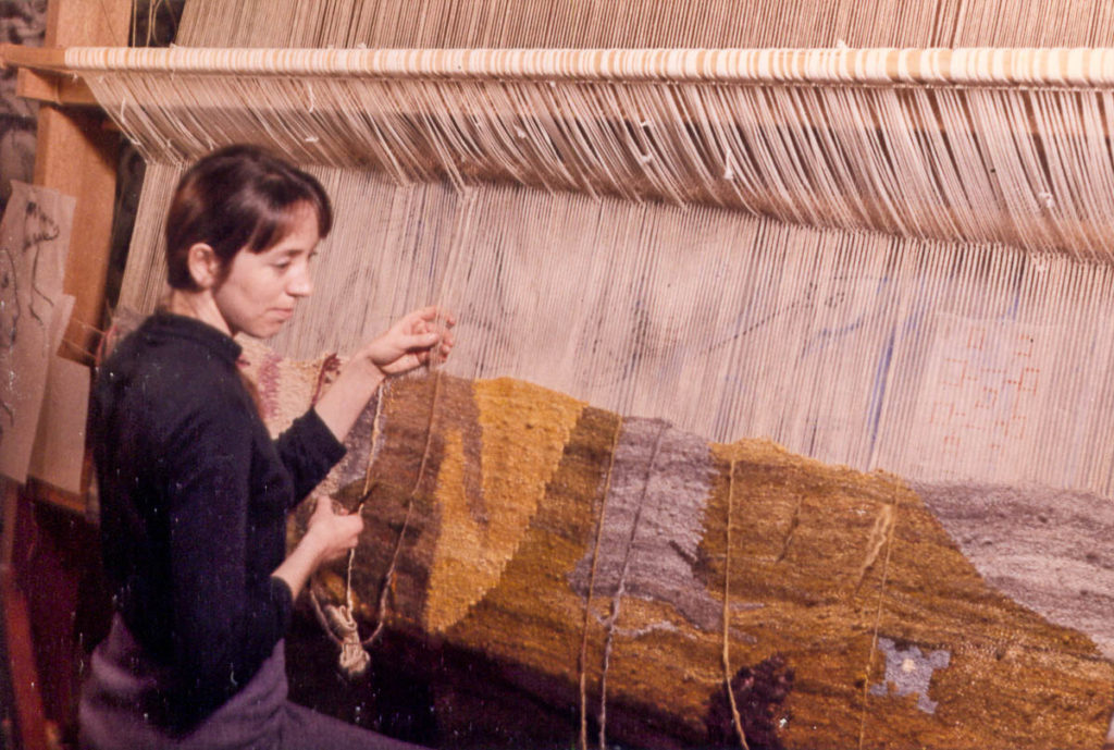 Margaret Grafton weaving the Tocal tapestry