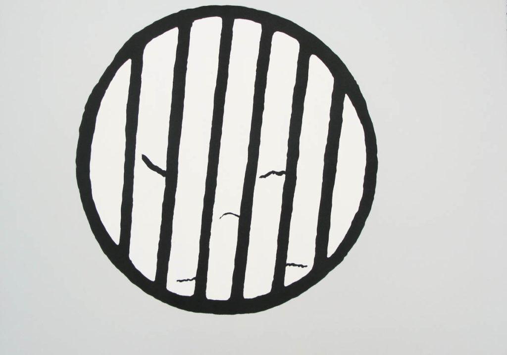 Yōichi Miyajima, DrainLithograph, 2002BFK paper, 90x63cm / Edition of 20Printed by Satoru Itazu at Itazu Litho-Grafik