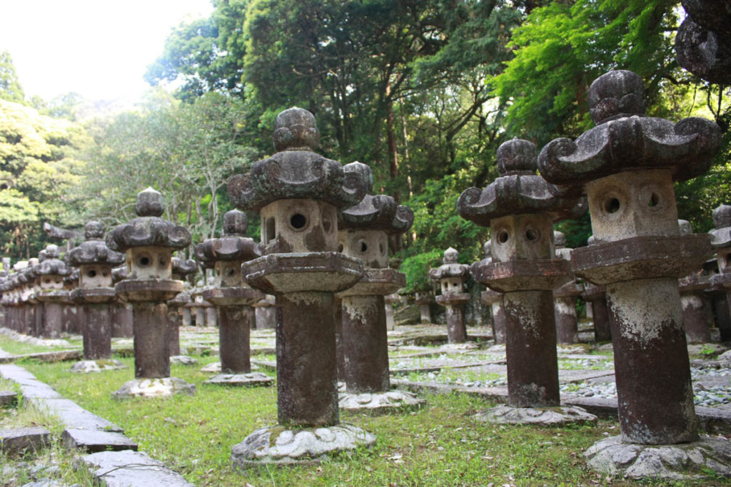 The warriors graveyard in Toji temple