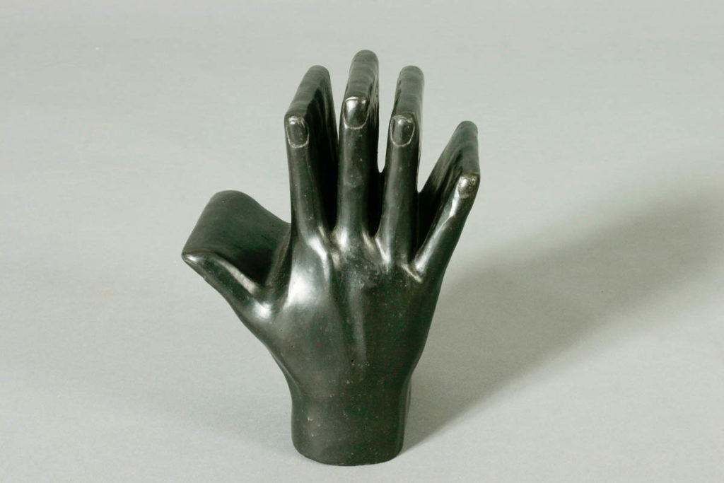 Kazuo YAGI, Applause space, 1974, black-fired earthenware, 22.0 x 16.5 x 14.0cm, Gift of members of the Sodeisha Group 1981,  Newcastle Art Gallery collection