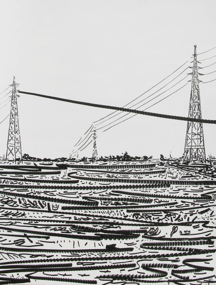 O Jun, from the portfolio Kawa ni Hairu (Into the River) Lithograph, 2013-14 Izumi paper, 62x47cm / Edition of 7 Printed by Satoru Itazu at Itazu Litho-Grafik
