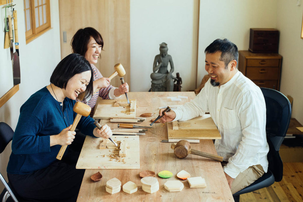 Scenes from Corare Artisans Bed and Craft, Toyama, Japan