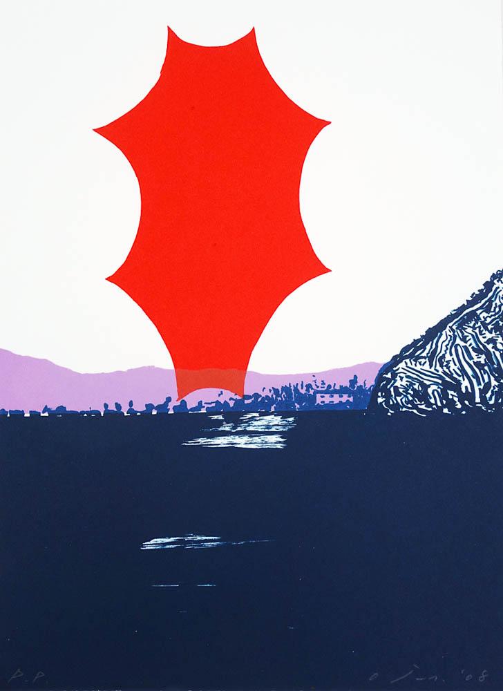 O Jun, Wink Lithograph, 2008 Izumi paper, 385x285mm / Edition of 25 Printed by Satoru Itazu at Itazu Litho-Grafik