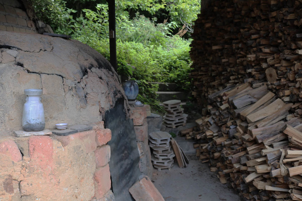 Okada's Noborigama (woodfiring kiln) has been inherited through eight generations, 2018; photo: Yoko Ozawa