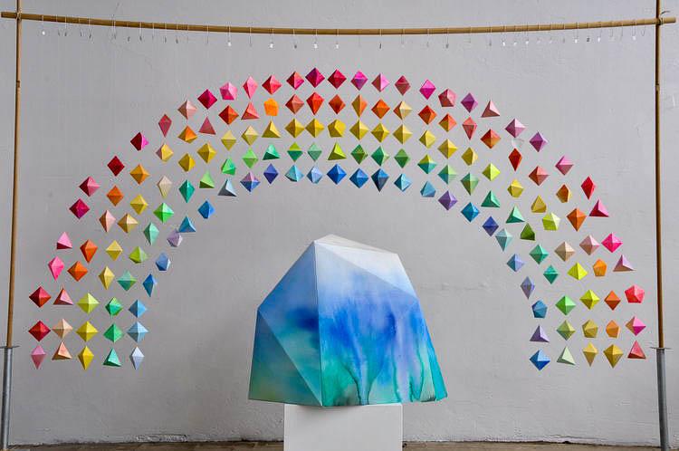 Rainbow Mountain, Dagmar Rousset window installation.
