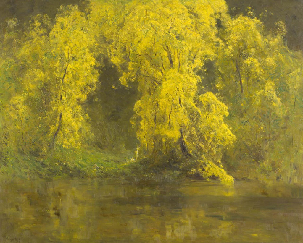 Penleigh Boyd, The breath of spring, 1919, oil on canvas, 122.0 × 154.0 cm, Warrandyte, Victoria