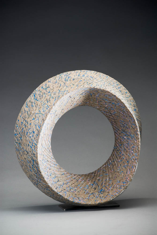 En Circle form   stoneware, colour inlay,  45x 24x45  2009