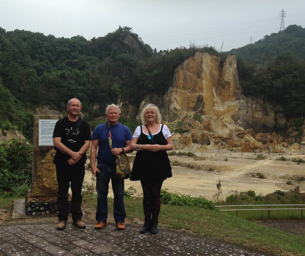 Simon Reece, Malcolm Greenwood and Merran Esson at Clay Pit in Arita, Japan