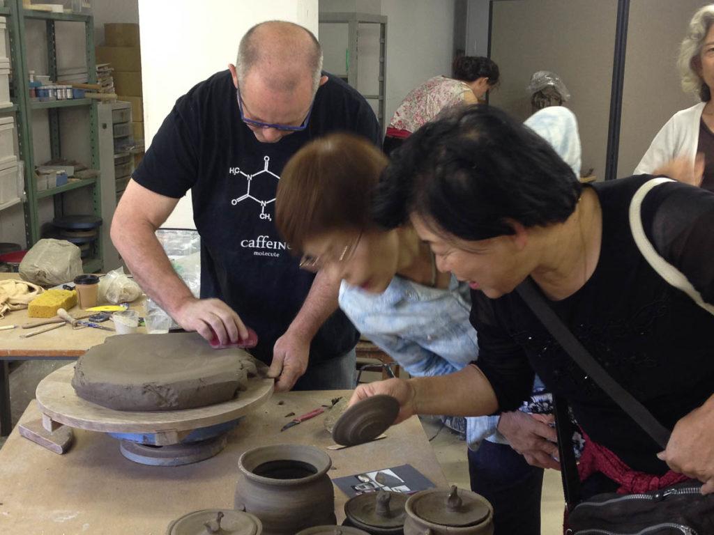 Simon Reece making a 'Continental Plate'. Shigaraki, 2014